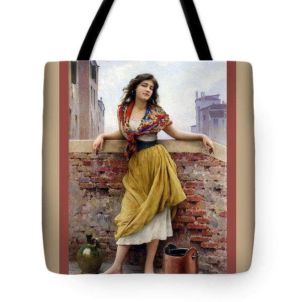 The Water Carrier Poster Tote Bag by Eugene de Blaas