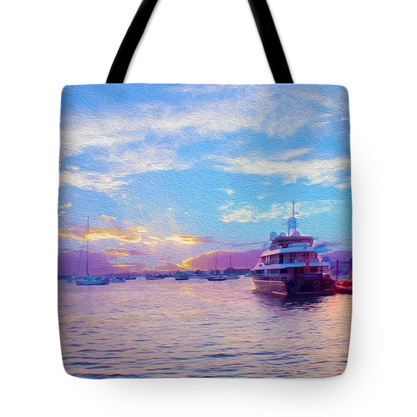 The Waters Are Calm Painting  Tote Bag by Jon Neidert