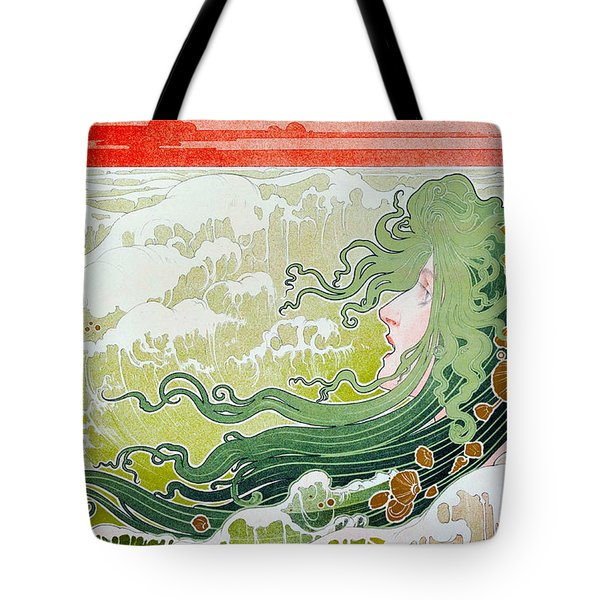 The Wave Tote Bag by Henri Pivat Livemont