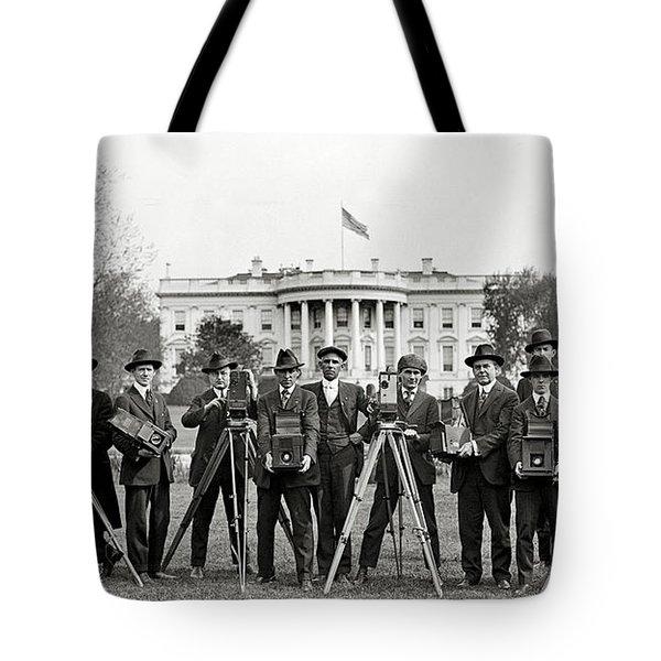 The White House Photographers Tote Bag by Jon Neidert