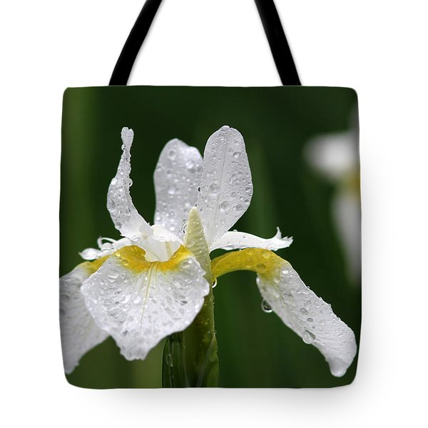 The White Iris Tote Bag by Juergen Roth