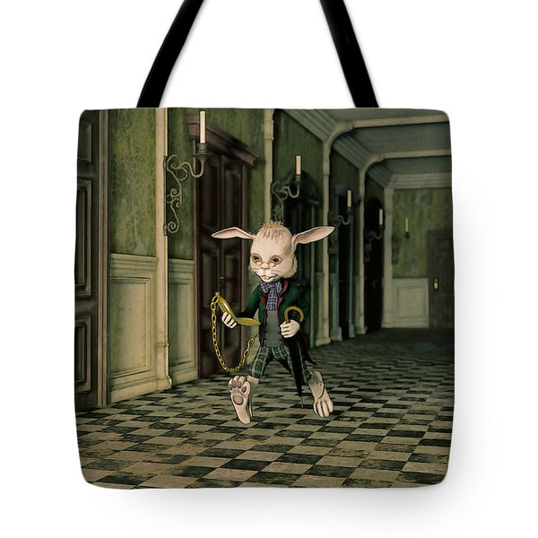 The White Rabbit Tote Bag by Liam Liberty