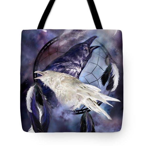 The White Raven Tote Bag by Carol Cavalaris