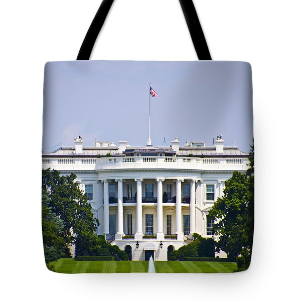 The Whitehouse - Washington Dc Tote Bag by Bill Cannon