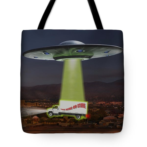 The Wine-oh-store Tote Bag by Mike McGlothlen