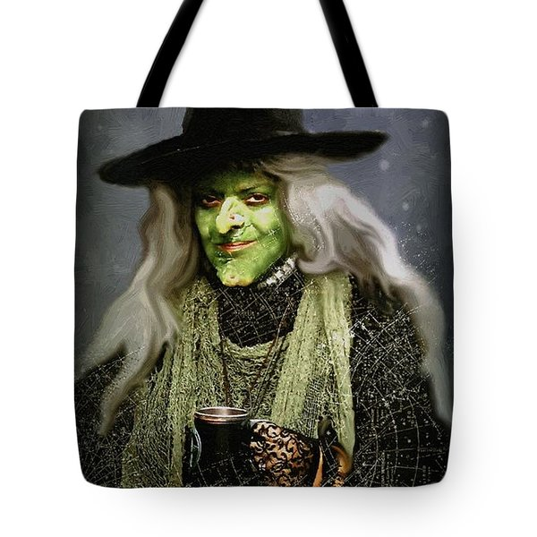 The Witch Of Endor As A Cavalier Tote Bag by RC DeWinter