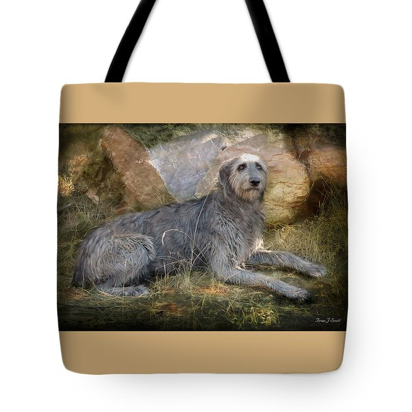 The Wolfhound  Tote Bag by Fran J Scott