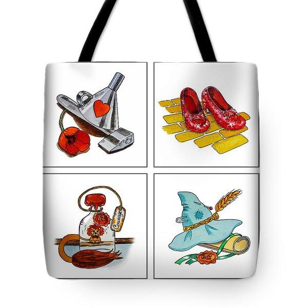 The Wonderful Wizard Of Oz Tote Bag by Irina Sztukowski