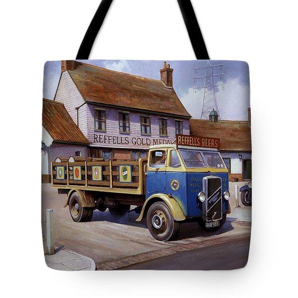 The Woodman Pub. Tote Bag by Mike  Jeffries