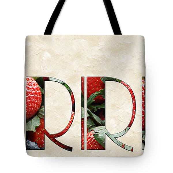 The Word Is Berries  Tote Bag by Andee Design