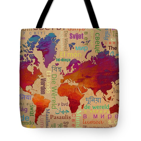 The World Tote Bag by Bedros Awak