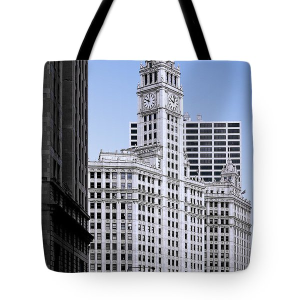 The Wrigley - A building that is pure Chicago Tote Bag by Christine Till