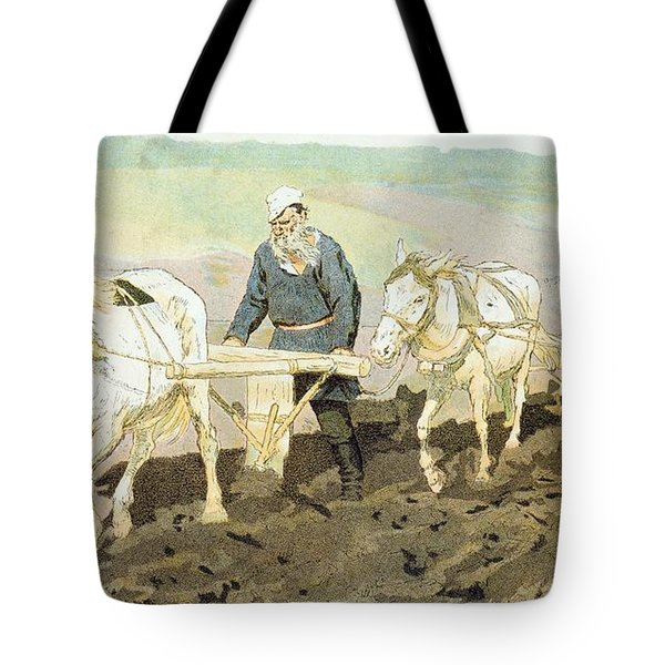 The Writer Lev Nikolaevich Tolstoy Tote Bag by Ilya Efimovich Repin