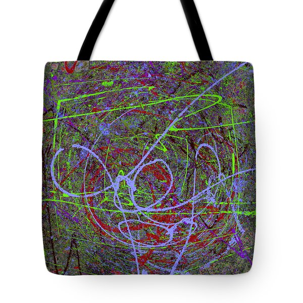 The Writing On The Wall 15 Tote Bag by Tim Allen