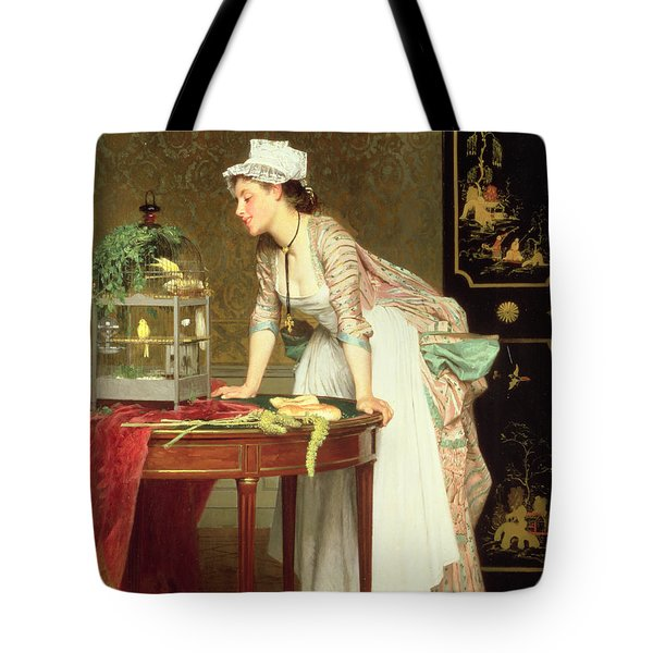 The Yellow Canaries Tote Bag by Joseph Caraud