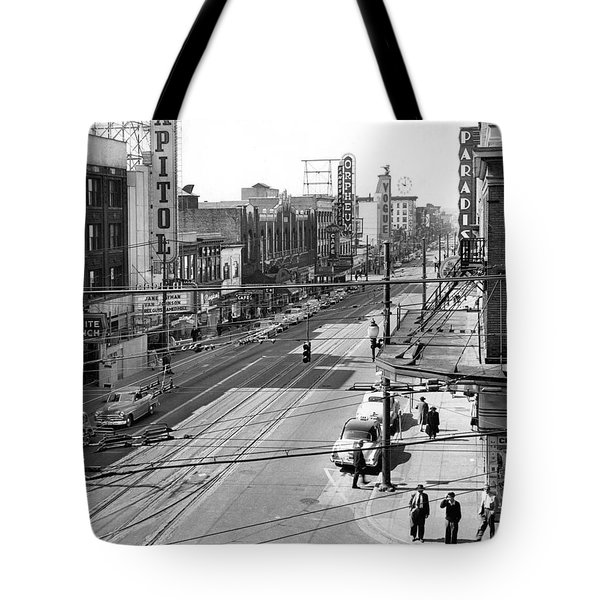 Theater Row - Vancouver Canada - 1951 Tote Bag by Daniel Hagerman