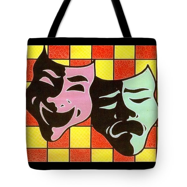 Theatre Masks Tote Bag by Jim Harris
