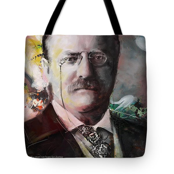 Theodore Roosevelt Tote Bag by Corporate Art Task Force