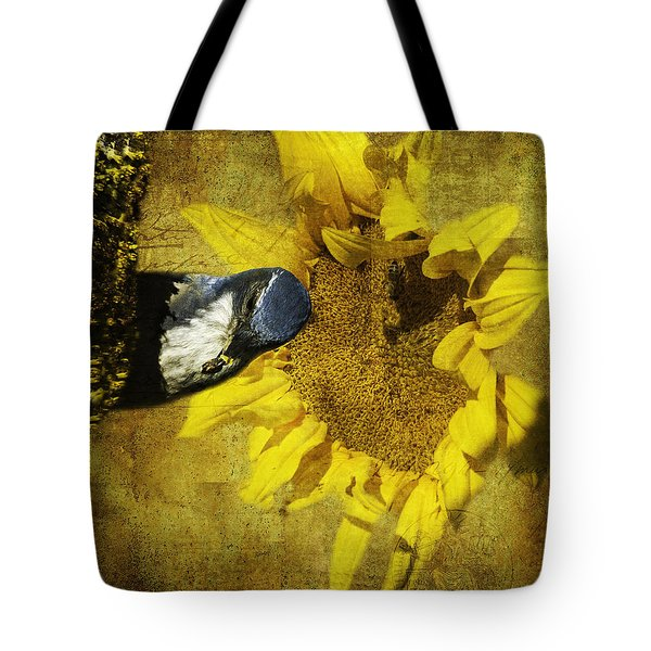 These Sunflower Seeds Are All Mine Tote Bag by Diane Schuster
