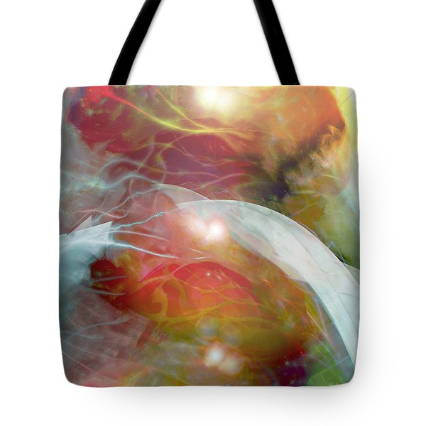 Theta Brain Waves Tote Bag by Linda Sannuti