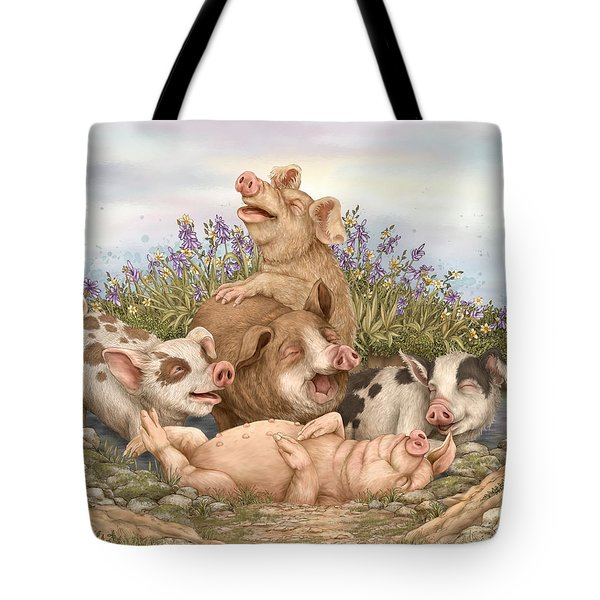 Think Happy Tote Bag by Beverly Levi-Parker
