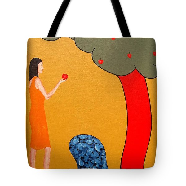 Thinking About The Apple Tote Bag by Patrick J Murphy