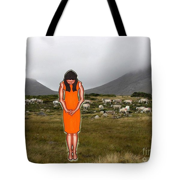 THINKING ABOUT THE SHEPHERD Tote Bag by Patrick J Murphy