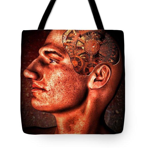 Thinking Man Tote Bag by Bob Orsillo