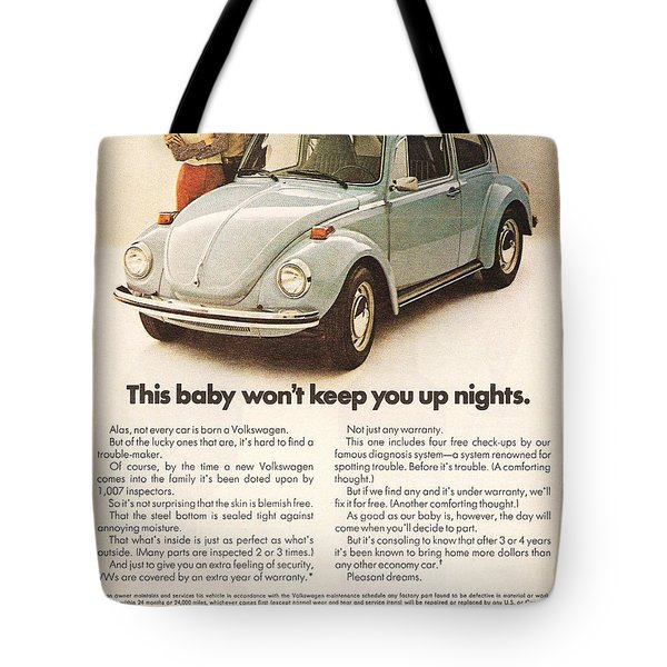 This baby won't keep you up nights Tote Bag by Nomad Art And  Design