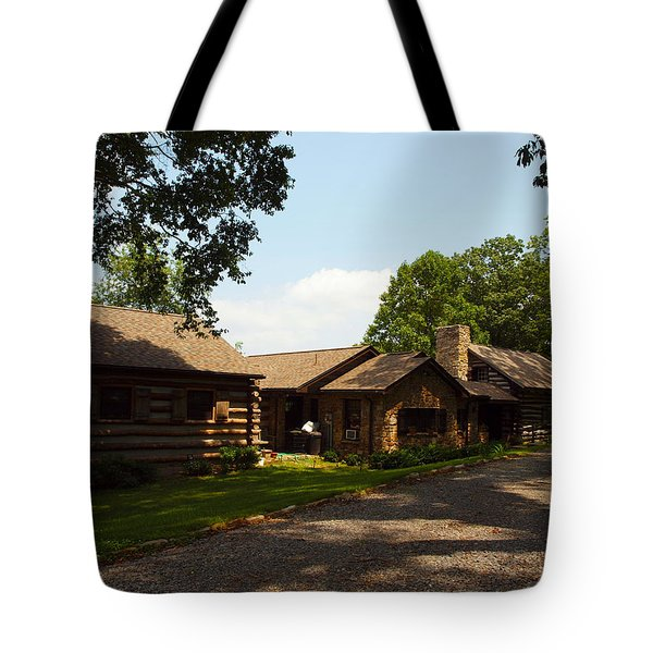 this is the cabin Tote Bag by Robert Margetts