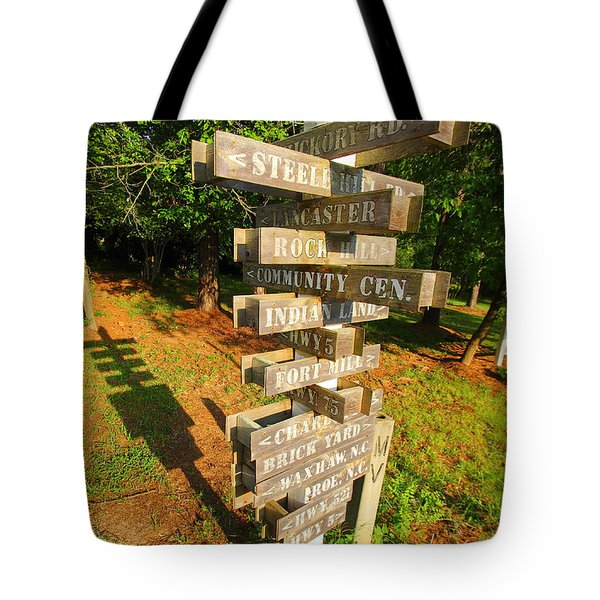 A Sign In Lancaster Tote Bag by Joseph C Hinson Photography