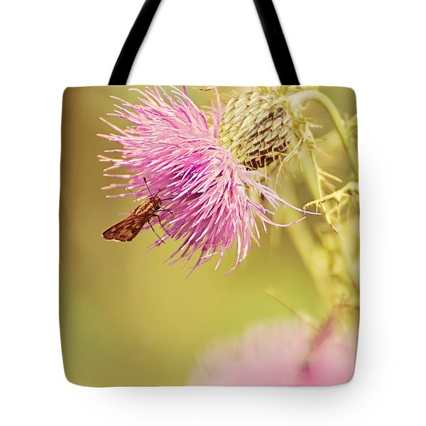 Thistle And Friend Tote Bag by Lois Bryan