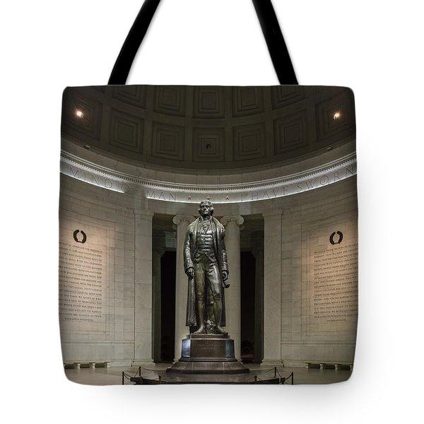 Thomas Jefferson Memorial At Night Tote Bag by Sebastian Musial