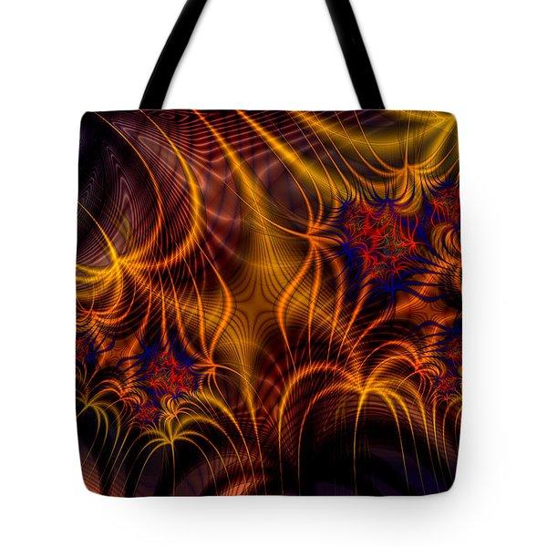 Thornweb In Amberorange  Tote Bag by Ann Stretton