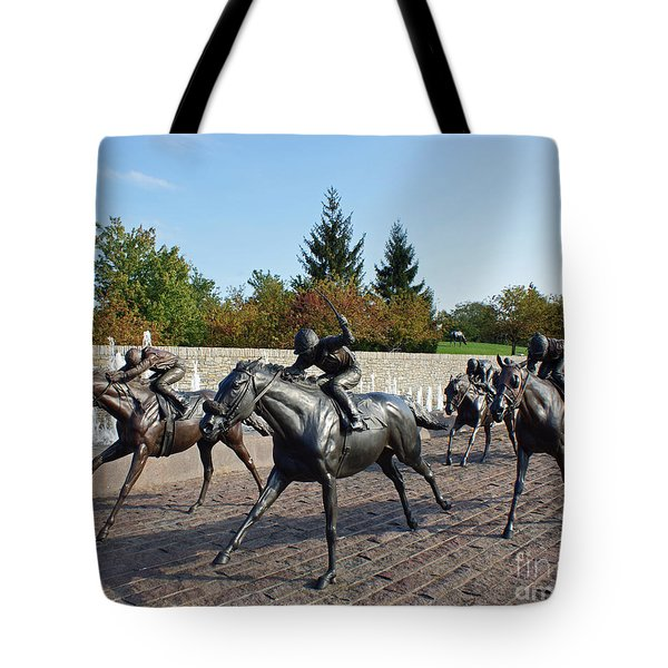 Thoroughbred Park Tote Bag by Roger Potts