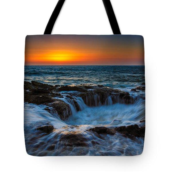 Thor's Well Tote Bag by Rick Berk