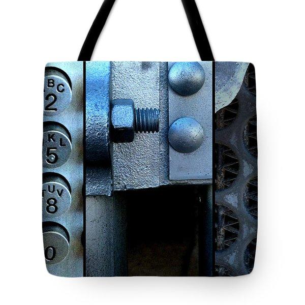Thou Shalt Not Steel Tote Bag by Marlene Burns