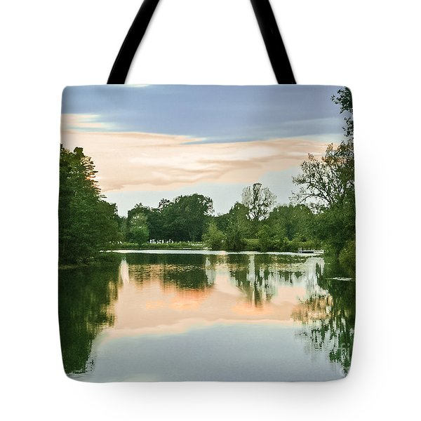 Thousand Trails Horseshoe Lake Tote Bag by Bob and Nadine Johnston