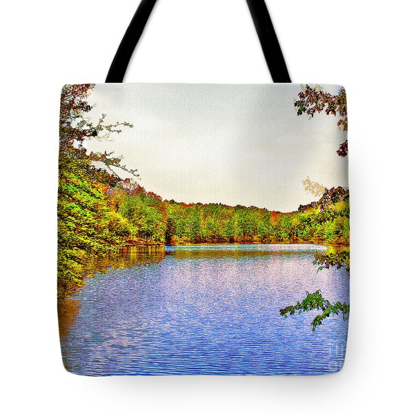 Thousand Trails Preserve Natchez Lake  Tote Bag by  Bob and Nadine Johnston