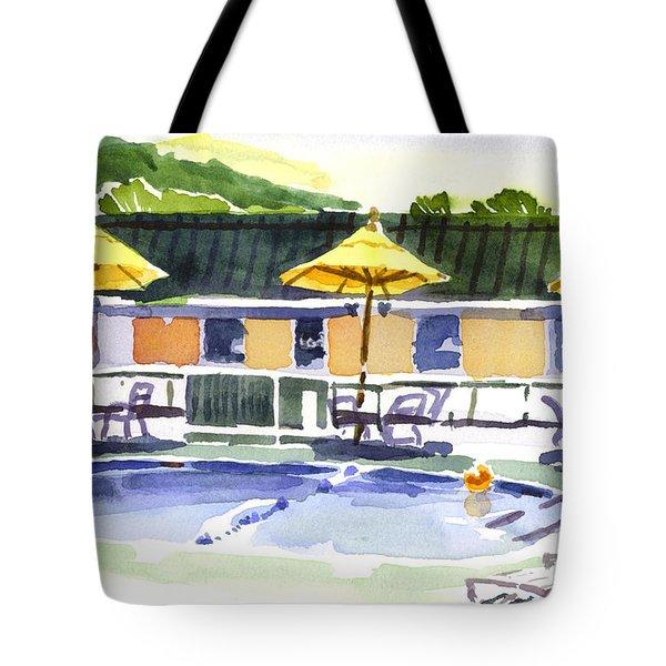 Three Amigos With Orange Beach Ball Tote Bag by Kip DeVore