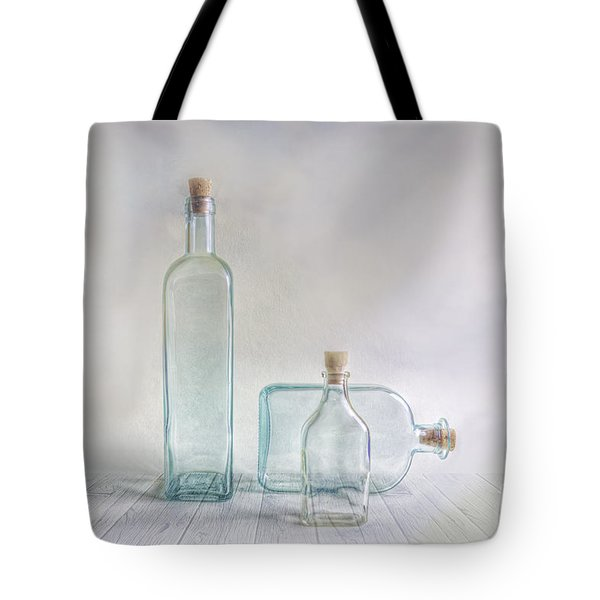 Three Bottles Tote Bag by Veikko Suikkanen