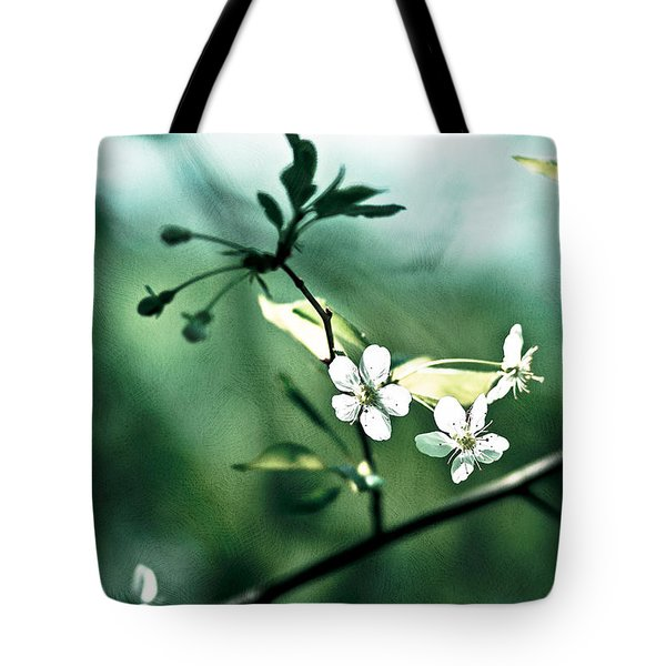 Three Cherry Flowers - Featured 3 Tote Bag by Alexander Senin