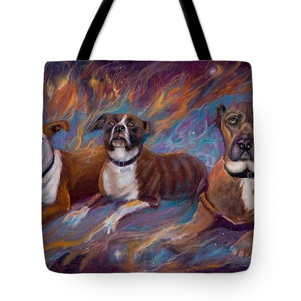 If Dogs Go To Heaven Tote Bag by Sherry Strong