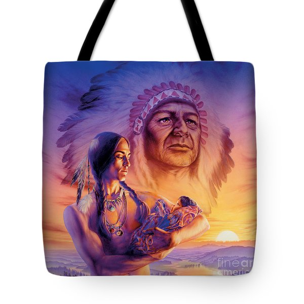 Three Generations Tote Bag by Andrew Farley