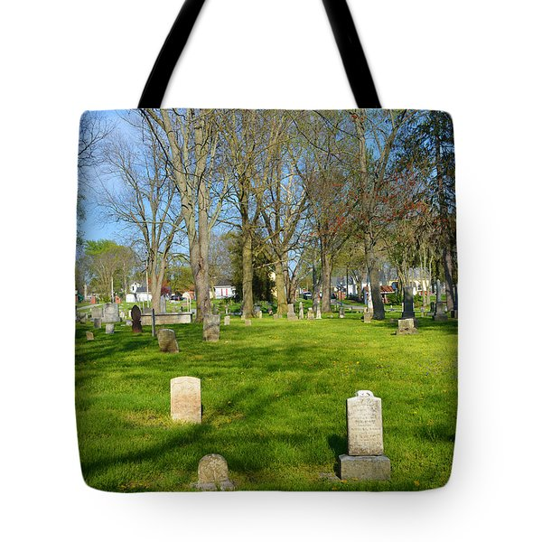 Three Gravestones Tote Bag by Alys Caviness-Gober