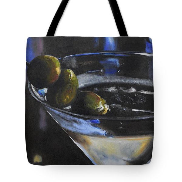 Three Olive Martini Tote Bag by Donna Tuten