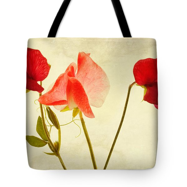 Three peas no pod Tote Bag by John Edwards