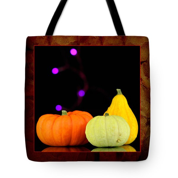 Three Small Pumpkins Tote Bag by Toppart Sweden
