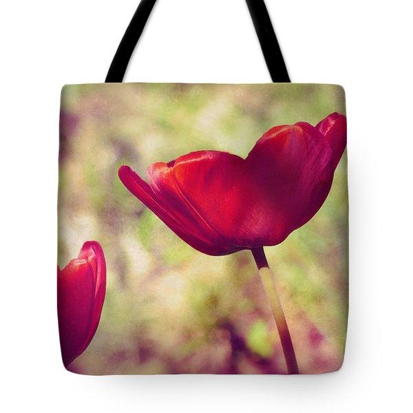 Three Tulips Tote Bag by Silvia Ganora