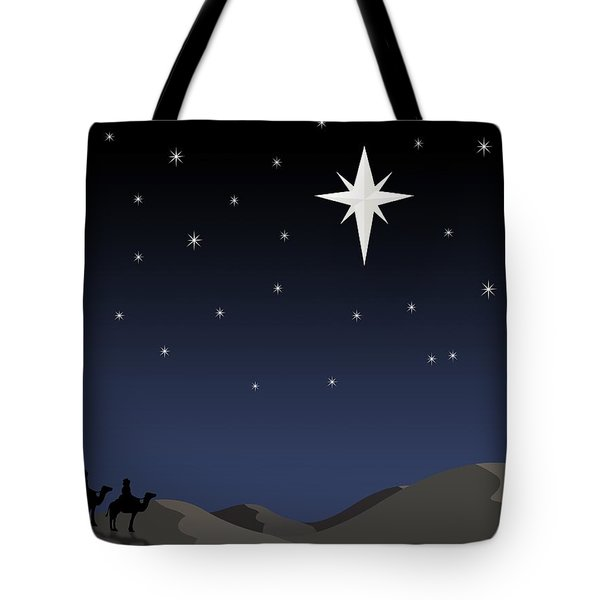 Three Wisemen Following Star Tote Bag by Daniel Sicolo